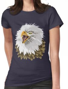 Big, Bold Eagles Head Womens Fitted T-Shirt