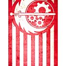 Fallout Brotherhood Of Steel Flag by mandoburger