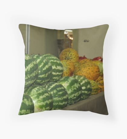 Market Throw Pillow