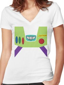Buzz Lightyear Women's Fitted V-Neck T-Shirt