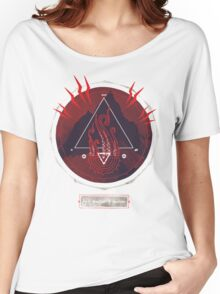 Mountain of Madness (red) Women's Relaxed Fit T-Shirt