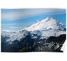 Frosting on top of Mount Baker Poster