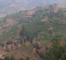 an exciting Rwanda landscape Sticker