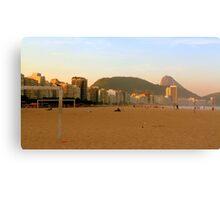 On the beach in Rio Canvas Print