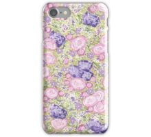 """""""Got the Chintz"""" Pink Roses Gouache Acrylic Painting iPhone Case/Skin"""