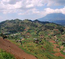 a colourful Rwanda landscape by beautifulscenes