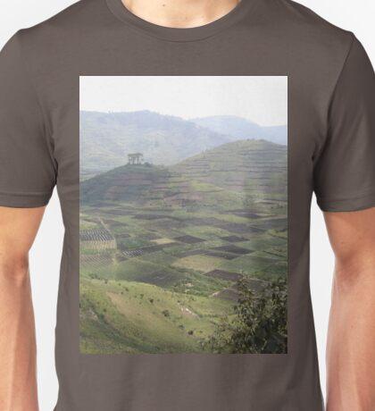a sprawling Rwanda landscape Unisex T-Shirt