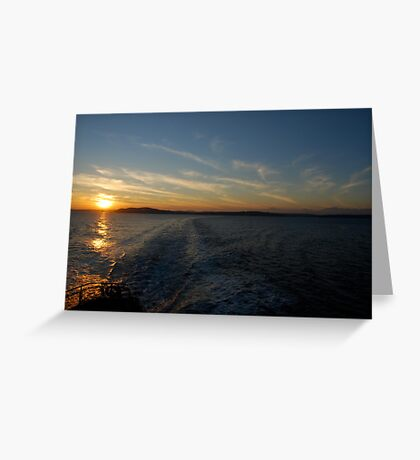 Ferry Wake, Puget Sound Greeting Card