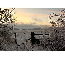 Snow in the Valleys Photographic Print