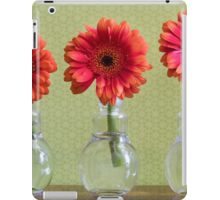 Three Colorful Daisy Flowers In Individual Vases iPad Case/Skin