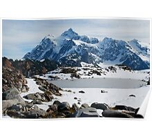 Mount Shuksan in Winter Poster