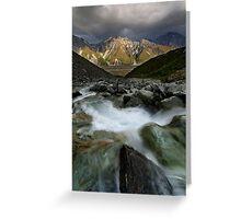 Tasman Valley Vista Greeting Card