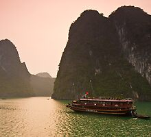 Halong Bay Sunrise by Nickolay Stanev