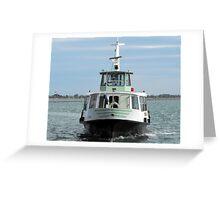 Eco-Waterbus, Venice Greeting Card