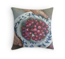 My plate runneth over.  Throw Pillow