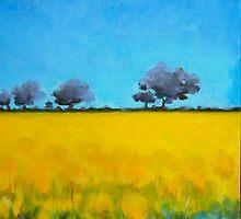 Canola field.  by Elizabeth Moore Golding