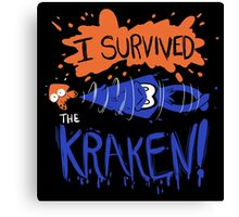 I Survived the Kraken! Canvas Print