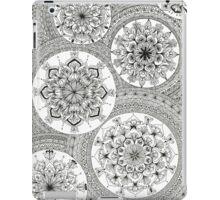 Pattern Black and White Mandala iPad Case/Skin