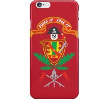 """""""Old School Family Crest (Red)"""" iPhone Case/Skin"""