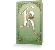 Letter K Greeting Card