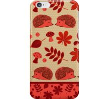 Hedgehogs in the Red Fall iPhone Case/Skin