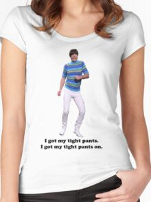 Tight Pants Women's Fitted Scoop T-Shirt