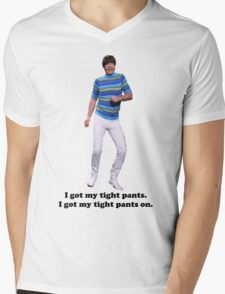 Tight Pants Mens V-Neck T-Shirt