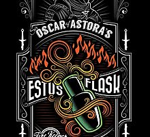Sir Oscar of Astora's Estus Flask Poster by wonderjosh