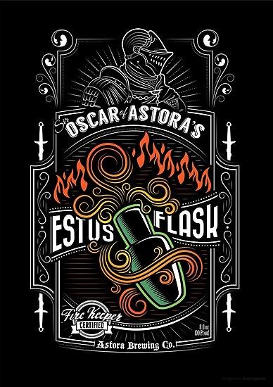 Sir Oscar of Astora's Estus Flask Poster by wonderjosh