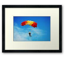 skydiving Framed Print