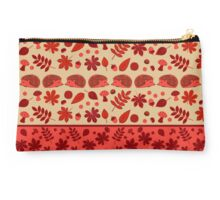 Hedgehogs in the Red Fall Studio Pouch