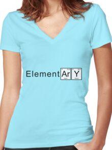 Elementary Women's Fitted V-Neck T-Shirt