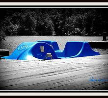 Paddle boat waiting for paddlers by DebbiesDigitals