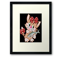 Kitty with Fish T shirt  , Tote bag and pillow (2833 Views) Framed Print