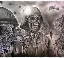 Skeleton Army by mrcomtruise