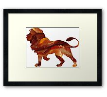 Lion Bacon Framed Print