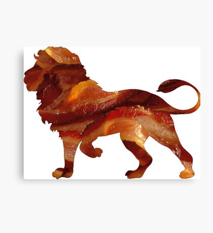 Lion Bacon Canvas Print