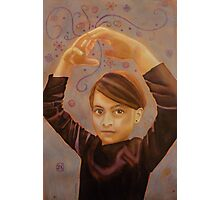 The hands were conducting the ballet, watercolor and mixed media on paper Photographic Print
