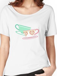 Mad Tea Party Teacups - Pink & Green Women's Relaxed Fit T-Shirt