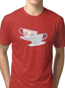 Mad Tea Party Teacups - Purple & Blue Tri-blend T-Shirt