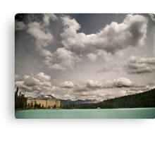 Fairmont chateau hotel in lake louise, Banff Canvas Print