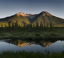 Reflection on the Vermillion lakes, Banff by alopezc72