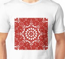 red background  Unisex T-Shirt