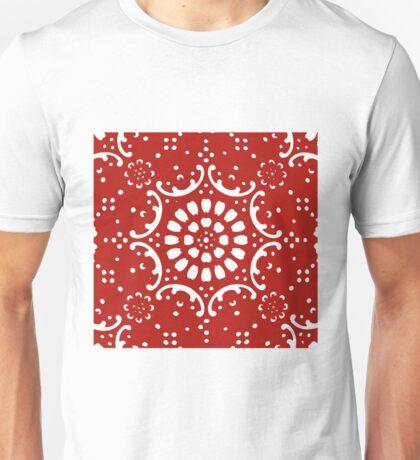 red background  Unisex T-Shirt