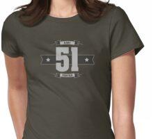 B-day 51 (Light&Darkgrey) Womens Fitted T-Shirt