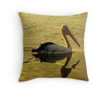 Pelican Gold Throw Pillow