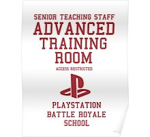Senior Staff Advanced Room Playstation Battle Royale (Red) Poster