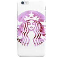 Starbucks Mermaid Pink Petals Logo iPhone Case/Skin