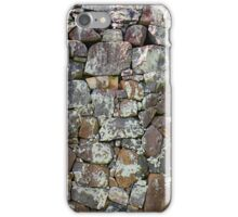 ancient grey stone wall iPhone Case/Skin