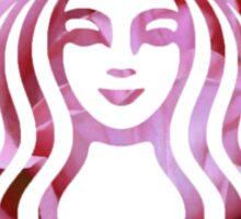 Starbucks Mermaid Pink Petals Logo Sticker